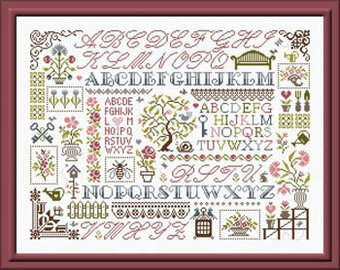Sampler Aux Fleurs - Cross Stitch Pattern