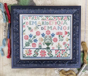 Spanish Rose Sampler - Cross Stitch Pattern