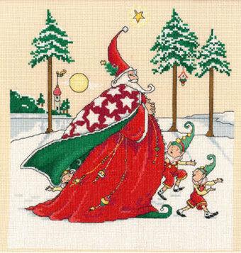 Christmas Wizard - Cross Stitch Pattern