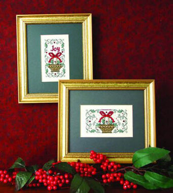 Holly Baskets - Cross Stitch Pattern