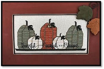 Thankful Grateful Blessed (w/charm) - Cross Stitch Pattern