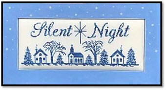 Silent Night (with crystal) - Cross Stitch Pattern