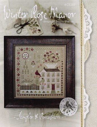 With Thy Needle And Thread Winter Rose Manor Cross Stitch Pattern 123stitch