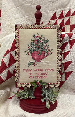 Pepperment & Holly - Cross Stitch Pattern