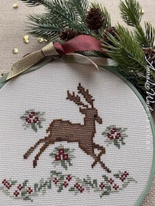 Regal Reindeer - Cross Stitch Pattern
