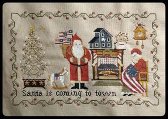 Patriotic Christmas Eve - Cross Stitch Pattern