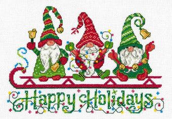 Holidays/_ Christmas Santa Gnomes /_Cross Stitch Pattern