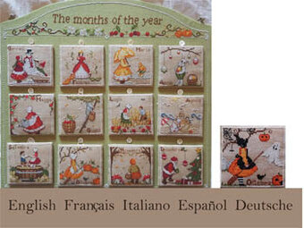 Months of the Year - Cross Stitch Pattern