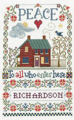 Peace to All Sampler - Cross Stitch Pattern