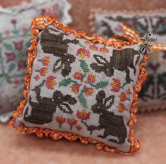 Rabbit Rabbit April - Cross Stitch Pattern