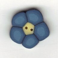 Tiny Blue Flower Button