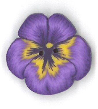 Small Purple Pansy - Button