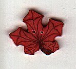 Small Orange Maple Leaf - Button