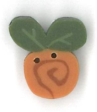 Tiny Pumpkin Swirly Bud Button