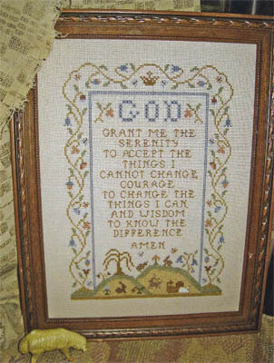 Serenity Prayer (reprint) - Cross Stitch Pattern
