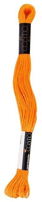 Vivid Orange Pepper - Cosmo Cotton Embroidery Floss 8m