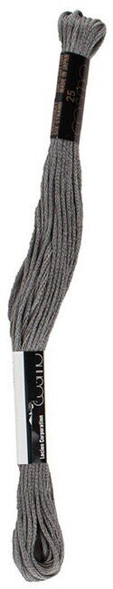 Charcoal Gray - Cosmo Cotton Embroidery Floss 8m