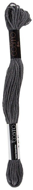 Dark Gray - Cosmo Cotton Embroidery Floss 8m