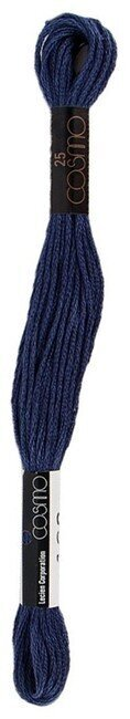 Navy - Cosmo Cotton Embroidery Floss 8m