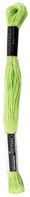 Lime Green - Cosmo Cotton Embroidery Floss 8m