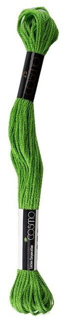 Vivid Yellowish Green - Cosmo Cotton Embroidery Floss 8m