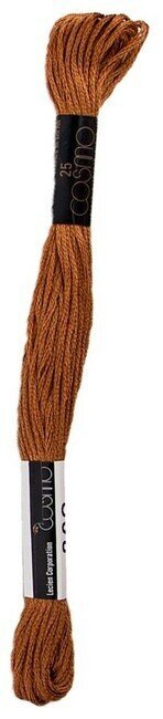Cosmo Cotton Embroidery Floss 8m - Bronze Brown