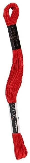 Cosmo Cotton Embroidery Floss 8m - Currant Red
