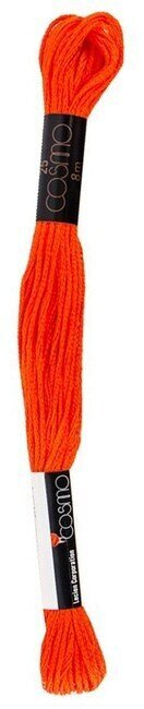 Orange - Cosmo Cotton Embroidery Floss 8m