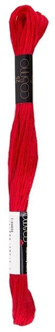 Aurora Red - Cosmo Cotton Embroidery Floss 8m