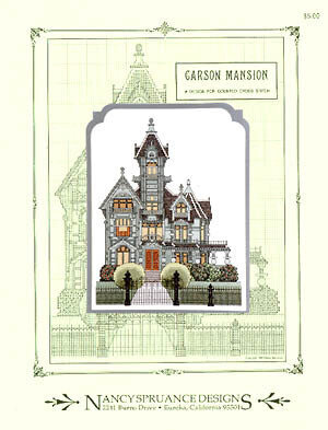 Carson Mansion - Cross Stitch Pattern