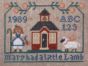Mary Had A Little Lamb  - Cross Stitch Pattern
