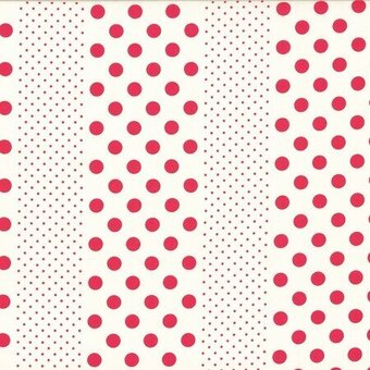 Red Dots Orchard Kitchen Cotton Fabric Half Yard
