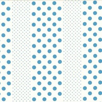 Blue Dots Orchard Kitchen Cotton Fabric Half Yard