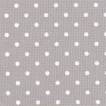 20 Count Grey/White Petite Point  Aida Fabric 10x18