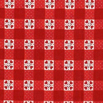 Red Check Cotton Fabric Fat Quarter
