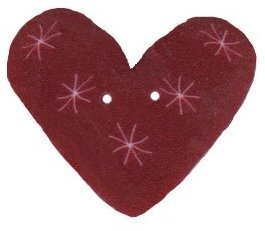 Plum Sparkle Heart - Button