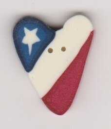 Small Heart Flag - Button