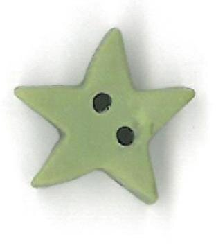 Medium Pale Sage Star - Button