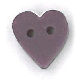 Tiny Dark Lilac Heart - Button