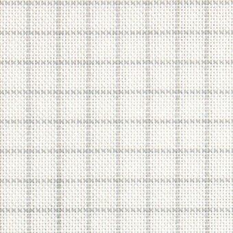 25 Count Easy Count Grid White/Grey Lugana Fabric 9x13