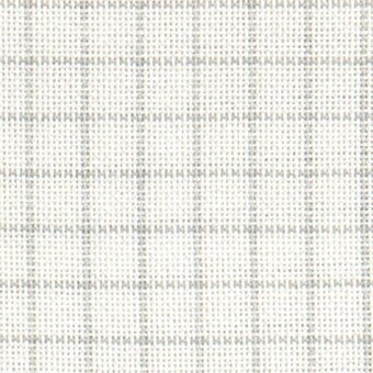 28 Count Easy Count Grid White/Grey Lugana Fabric 18x27