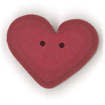 Rosy Red Heart - Button