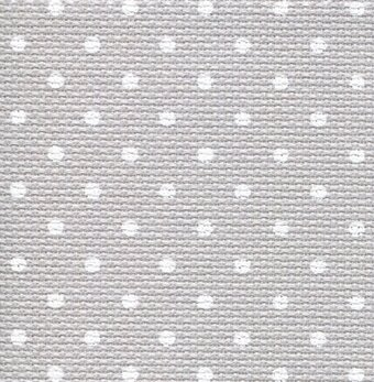 18 Count Grey/White Petite Point Aida Fabric 21x36