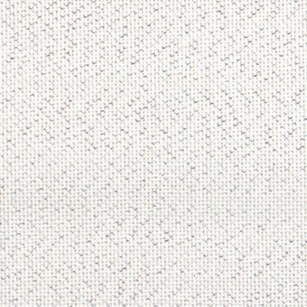 25 Count White/Silver Lugana Fabric 13x18