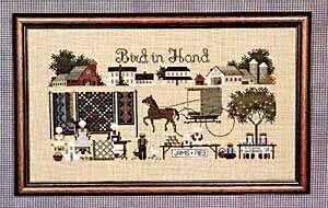 Bird In Hand - Cross Stitch Pattern