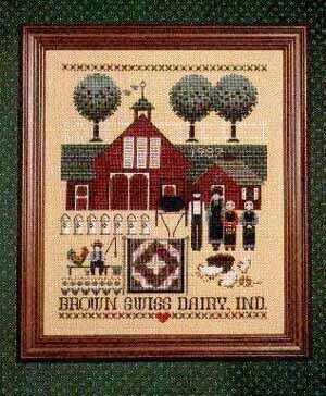 Brown Swiss Dairy - Cross Stitch Pattern