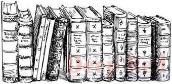 Old Books Border - Cling Rubber Stamp