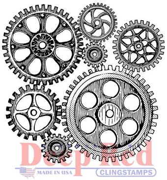Cogs and Gears - Cling Rubber Stamp
