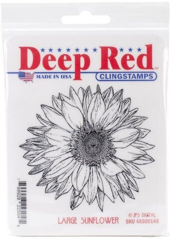 Large Sunflower - Cling Rubber Stamp