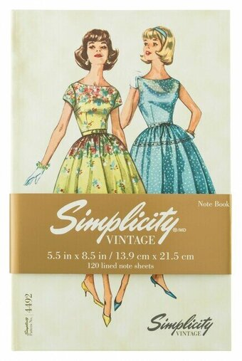 Simplicity Vintage Hardcover Notebook 4492